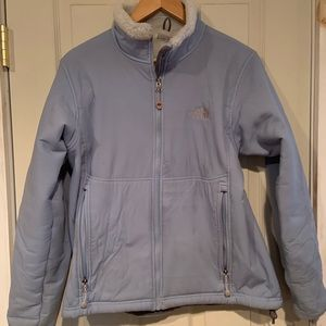 North face baby blue Sherpa jacket